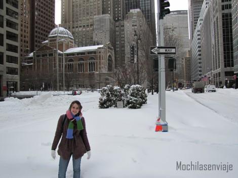 Y un día hubo tormenta de nieve, y al otro día apareció todo nevado...