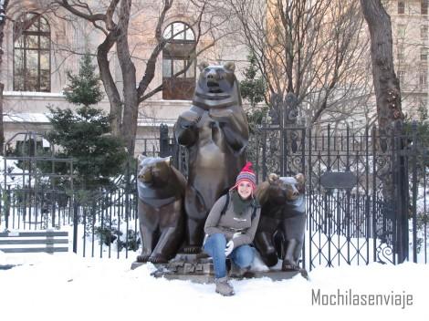 Mas nieve, mas Central Park.