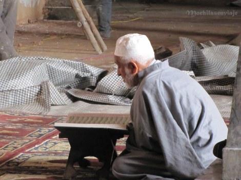 Leyendo adentro de una mezquita