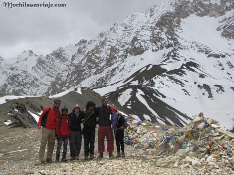 El grupo con el cual compartimos el trekking