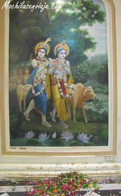 Imagen de Krishna tomada en el ISKON