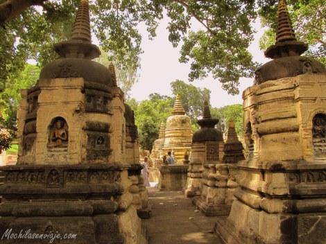Jardines y stupas