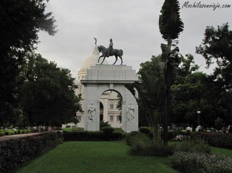Parte de atrás del Victoria Memorial