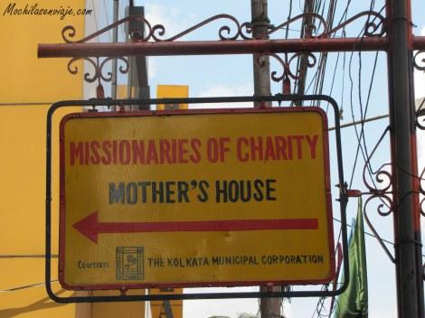 Camino a Motherhouse (lugar de la Madre Teresa)