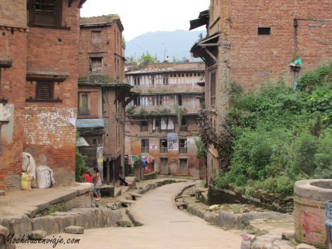 Las angostas calles de Bhaktapur