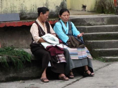 En Sikkim las mujeres no visten saree
