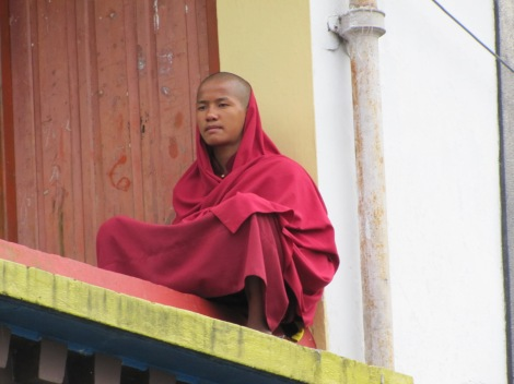 Joven en el monasterio de Rumtek