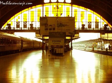Estación de trenes en Bangkok