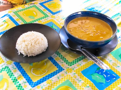 Yellow Curry, arroz para acompañar.