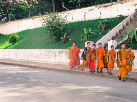Luang Prabang esta llena de templos. Por algo es la capital religiosa de Laos