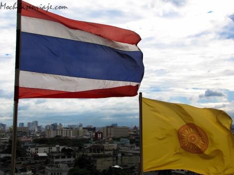 Bandera de Tailandia y bandera de la familia real