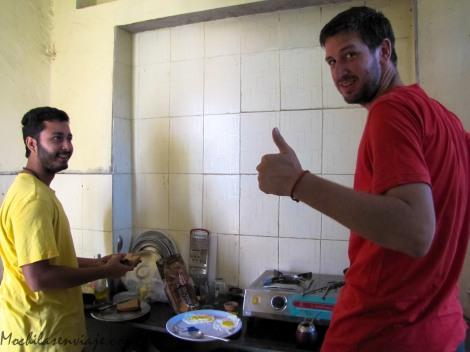 Cocinando en India
